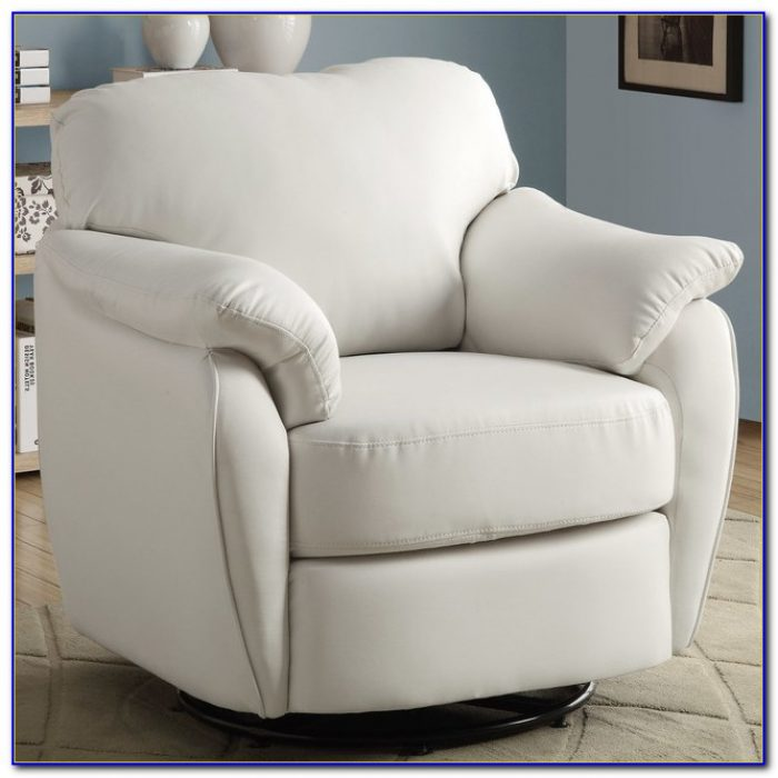 Black And White Leather Accent Chair