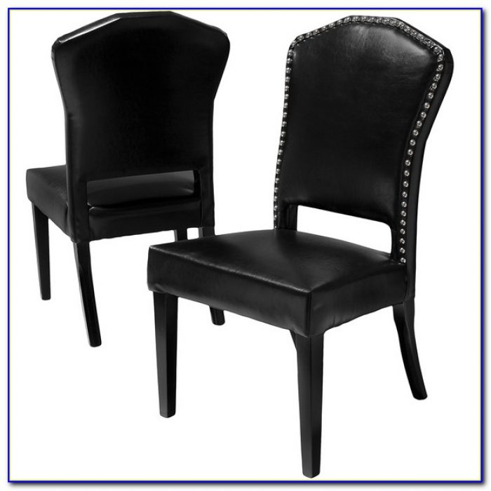 Black Leather Dining Chairs Ebay