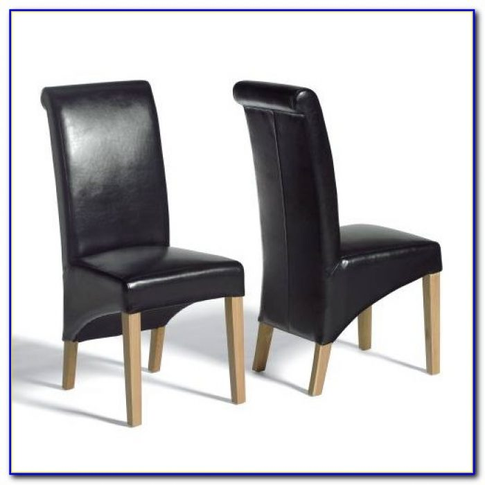 Black Leather Dining Chairs With Black Legs