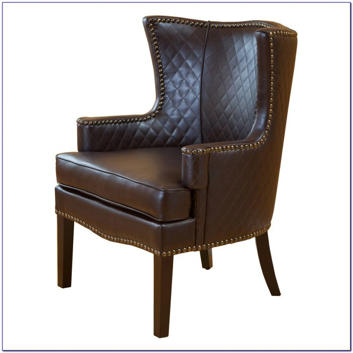 Brown Leather Couch Accent Chair