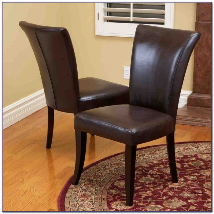 Brown Leather Dining Chairs With Chrome Legs