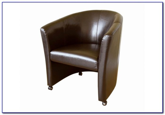 Brown Leather Sofa Accent Chair