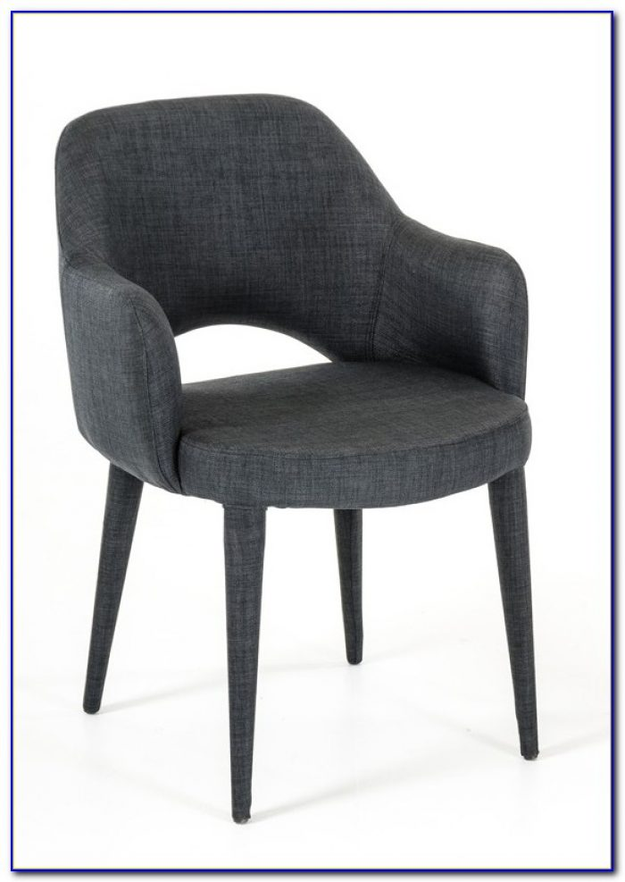 Dark Gray Dining Chairs