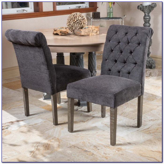 Dark Grey Dining Chair Covers