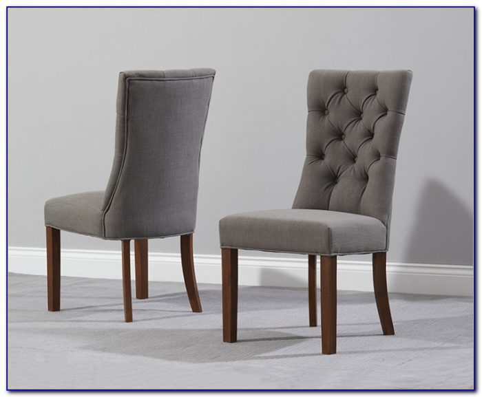 Dark Grey Leather Dining Chairs