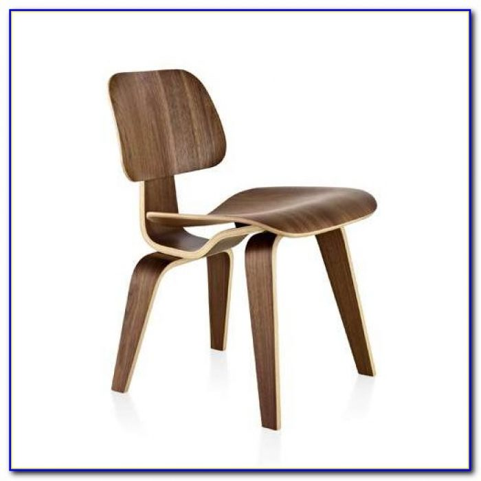 Eames Molded Plywood Chair With Metal Legs