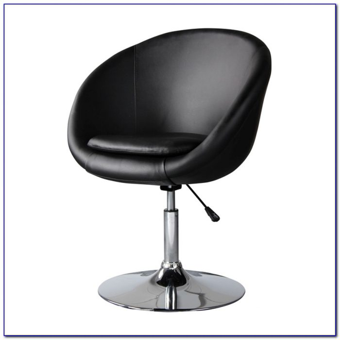 Faux Leather Armless Accent Chair