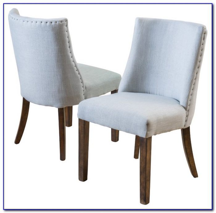 Gray Cloth Dining Chairs
