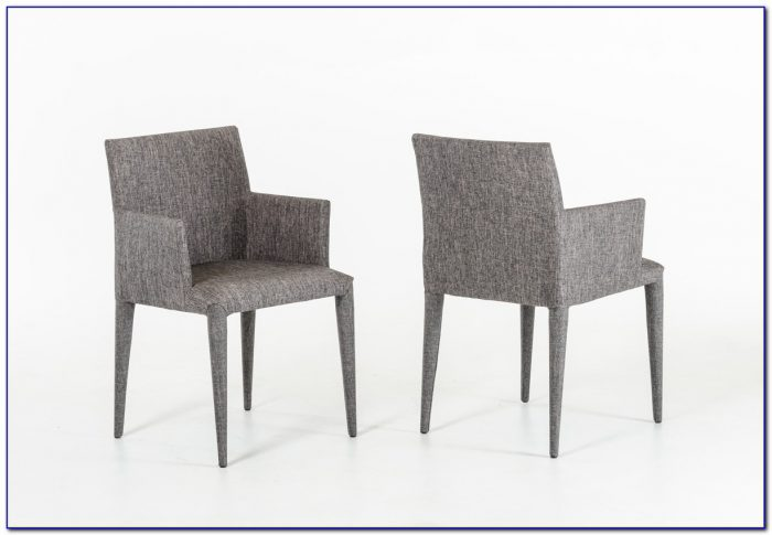 Grey Fabric Dining Chairs
