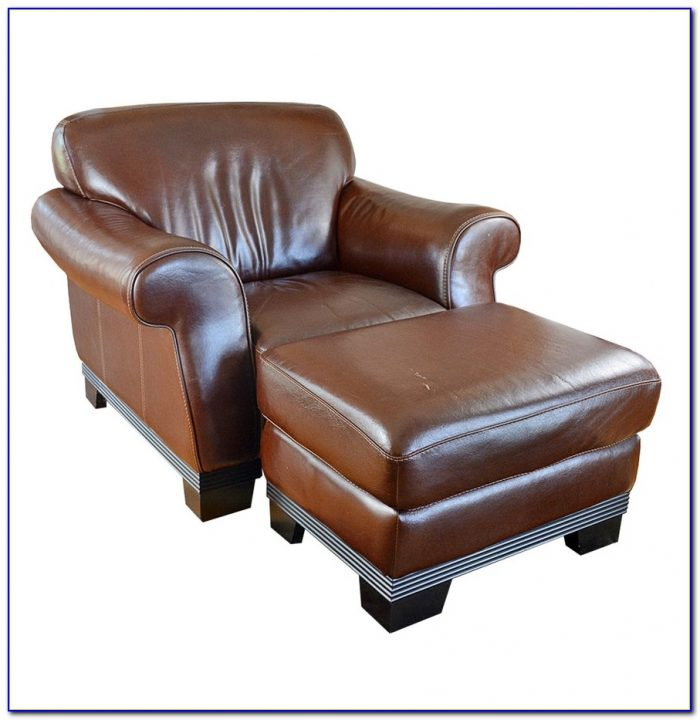 Lane Leather Club Chair And Ottoman