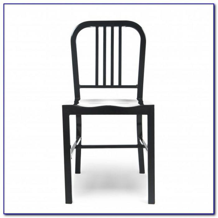Matte Black Metal Dining Chairs