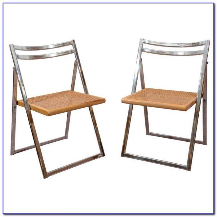 Mid Century Metal Folding Chairs