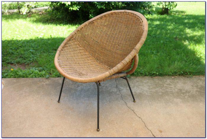 Mid Century Modern Wicker Chair