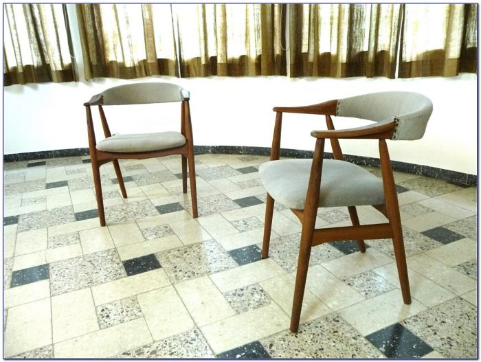 Mid Century Modern Wooden Arm Chair