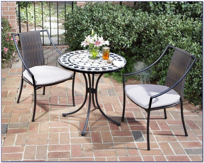 Outdoor Bistro Table And Chairs Set