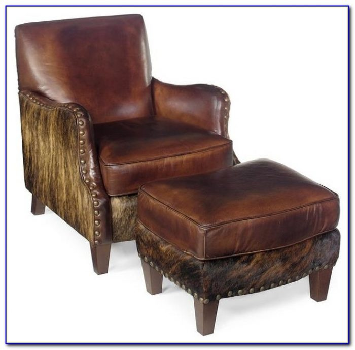 Paris Leather Club Chair And Ottoman