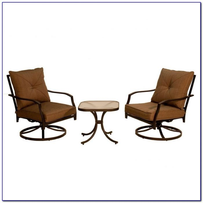 Patio Bar Set With Swivel Chairs