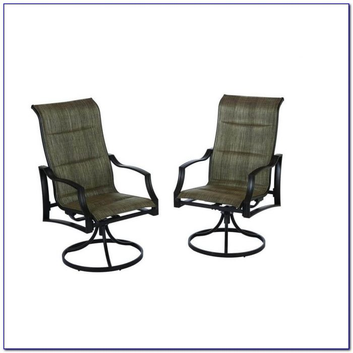 Patio Set With 6 Swivel Chairs