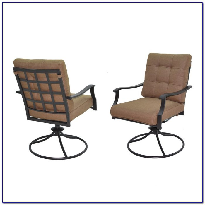 Patio Set With Swivel Chairs