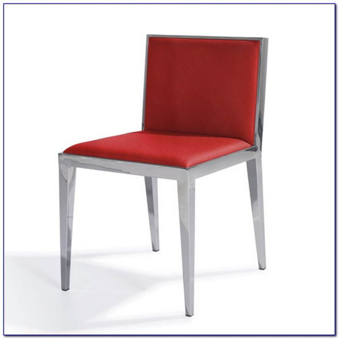 Red Leather Dining Chairs With Chrome Legs