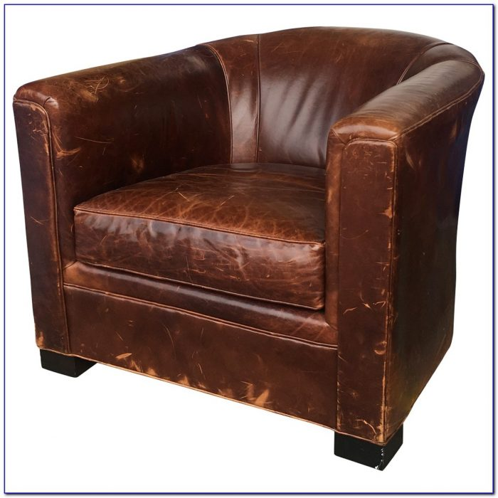 Restoration Hardware Leather Chair And A Half
