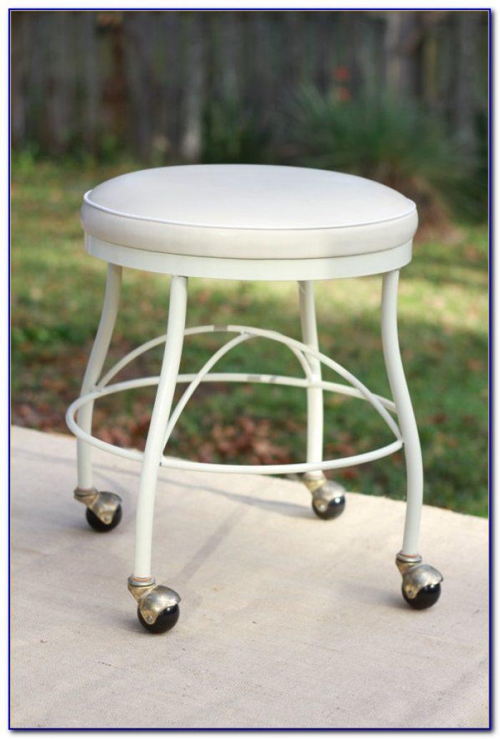 Swivel Vanity Chair With Wheels