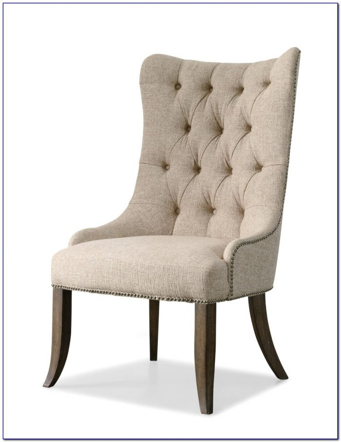 Tufted Grey Fabric Dining Chairs