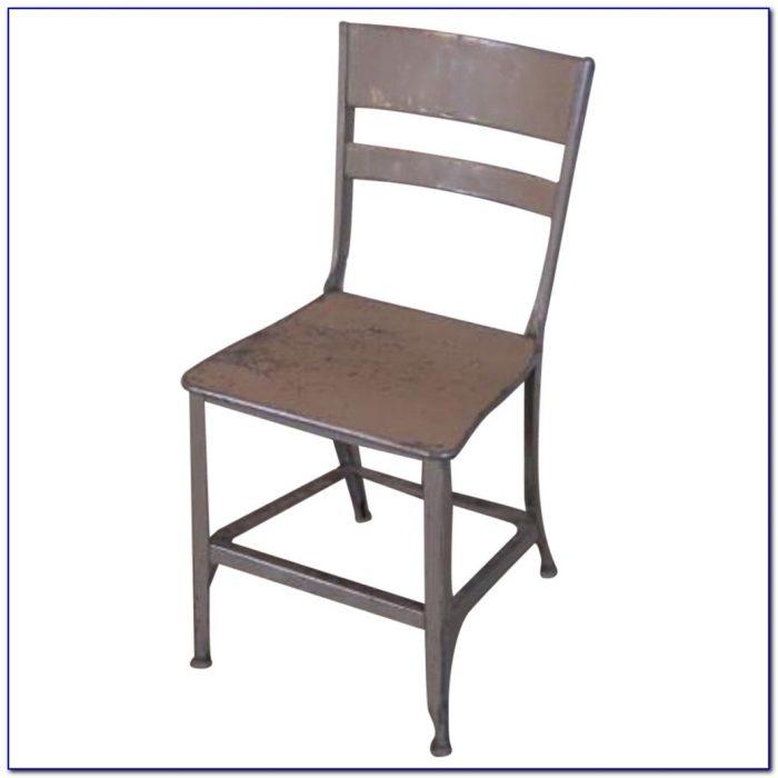 Vintage Black Metal Dining Chairs
