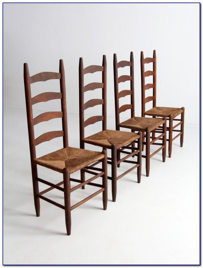 Vintage Ladder Back Chairs