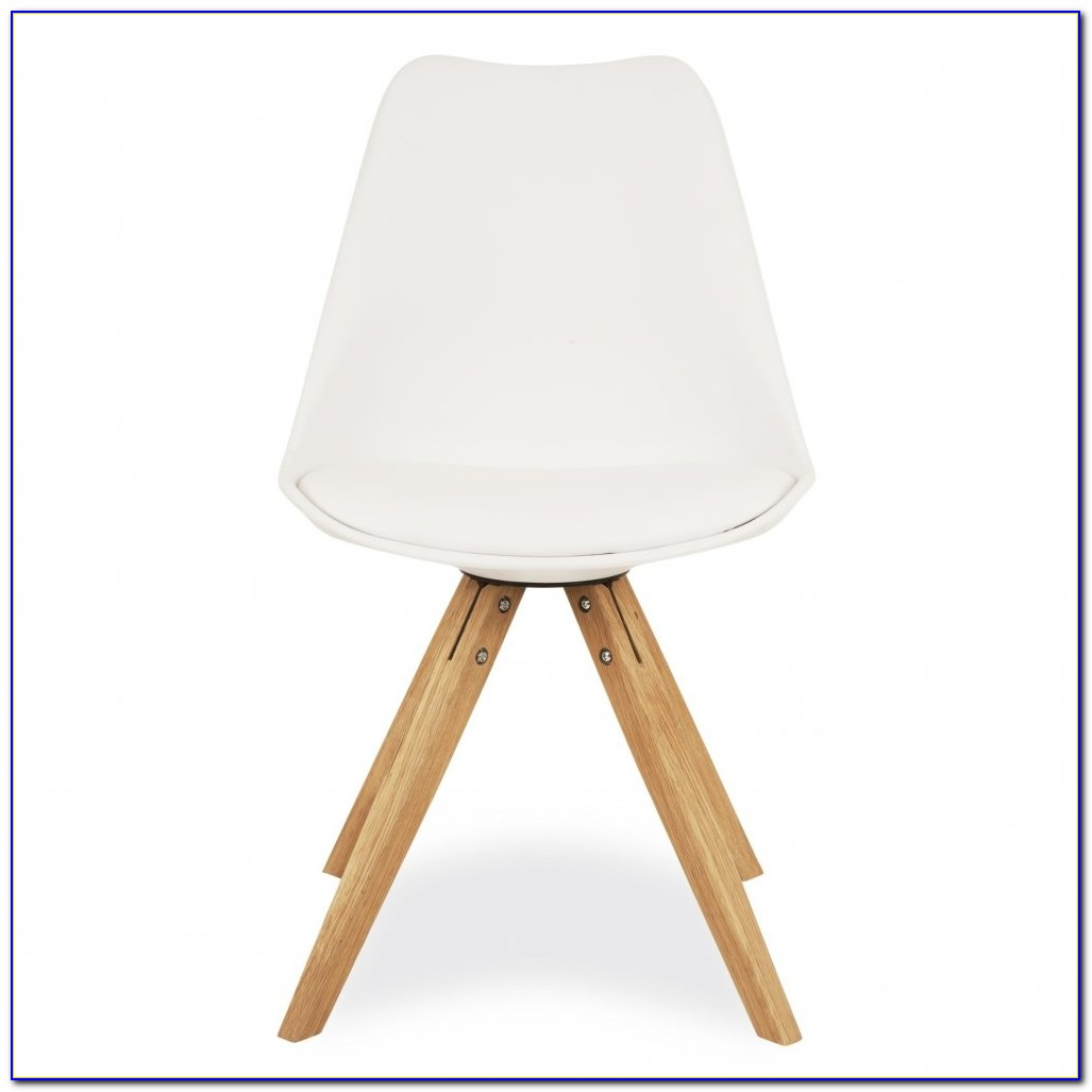 White Bucket Chair Wooden Legs
