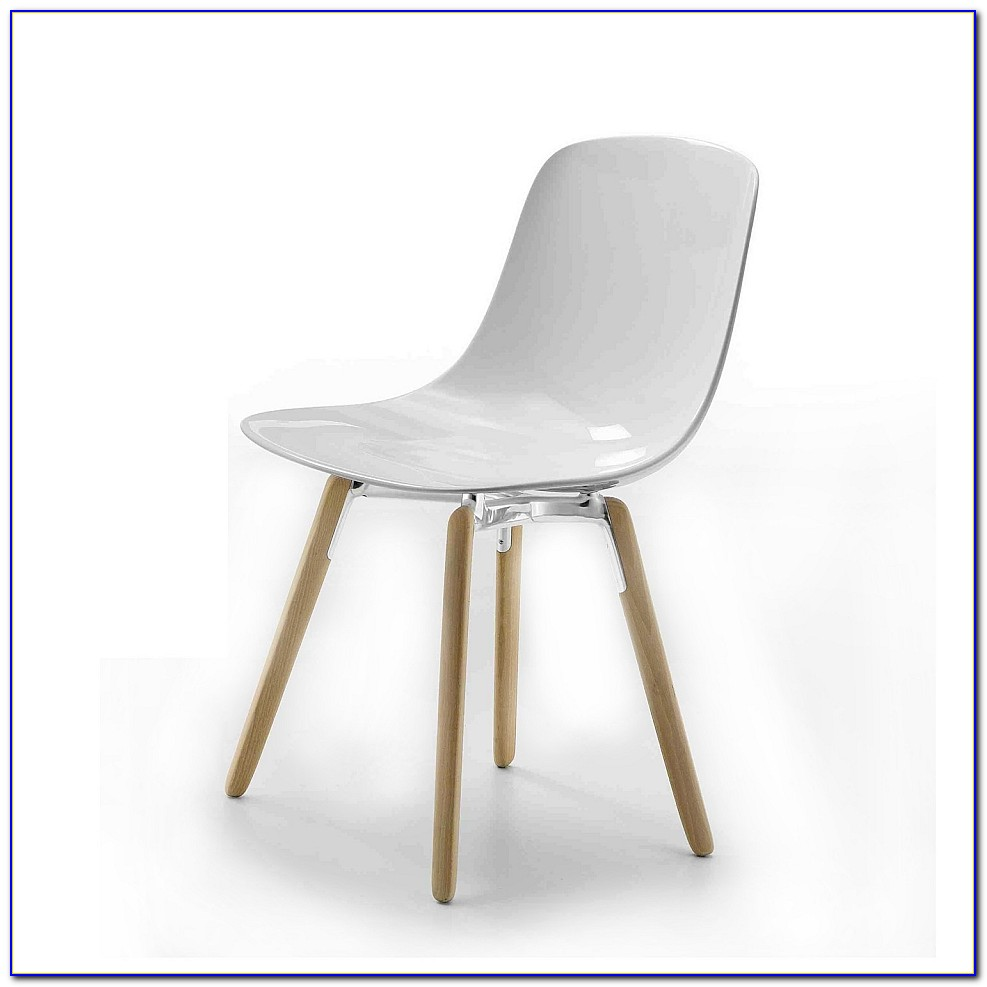 White Chair With Wooden Legs Ikea