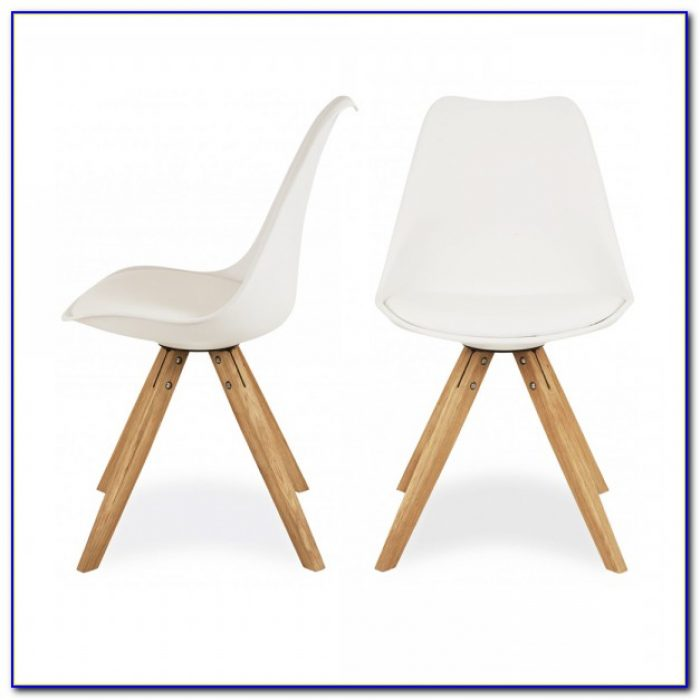 White Chairs With Oak Legs