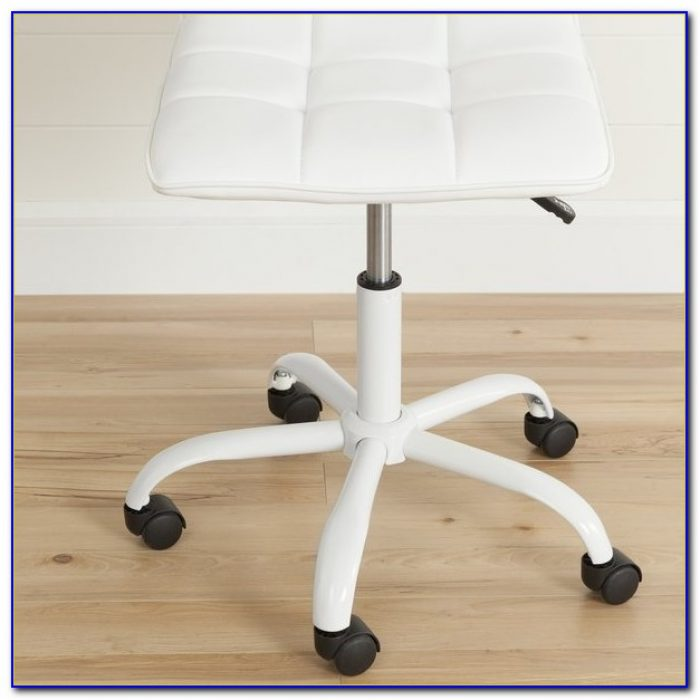 White Computer Desk And Chair Set