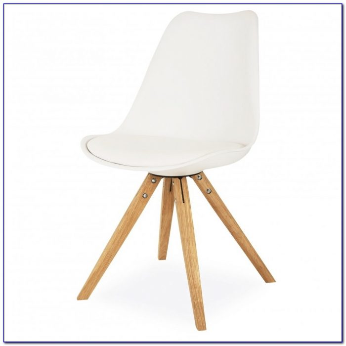 White Desk Chair Wooden Legs