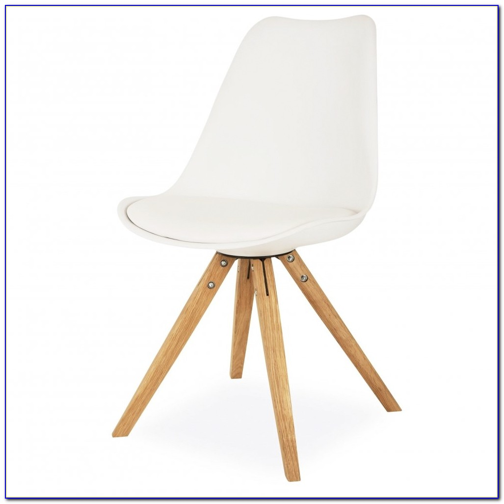 White Desk Chair Wooden Legs