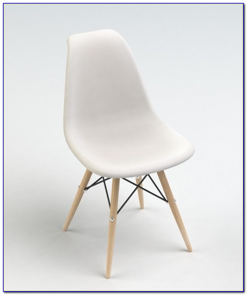 White Dining Chair Wooden Legs