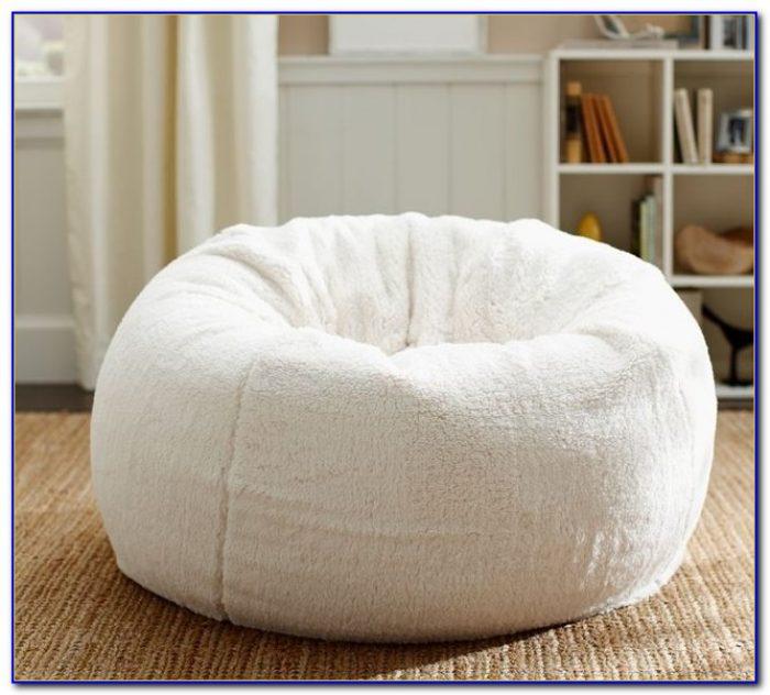 White Leather Bean Bag Chair