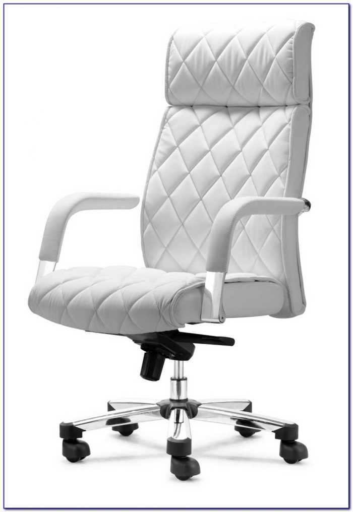 White Leather Office Chair Amazon