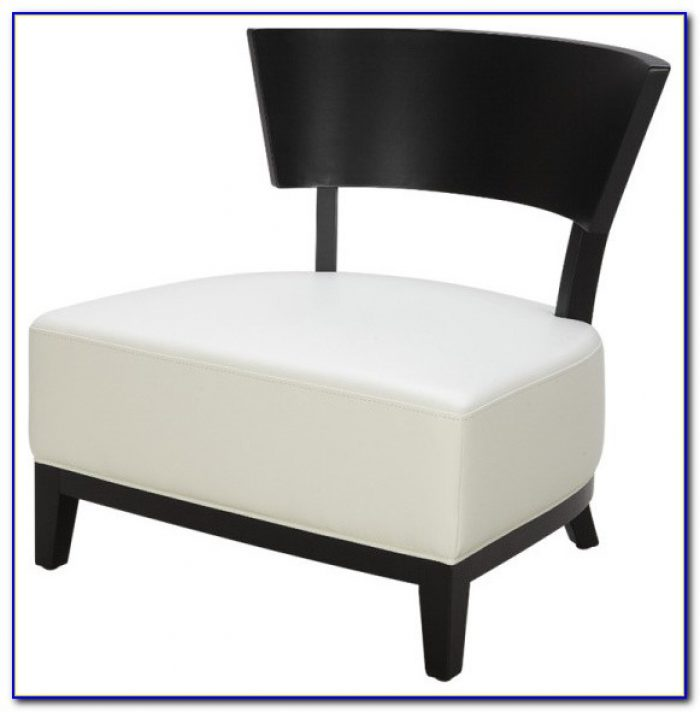 White Leather Swivel Accent Chair