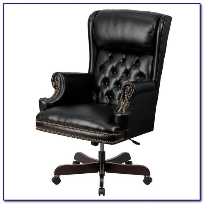 Black High Back Tufted Chair