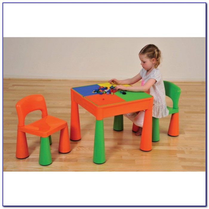 Childrens Wooden Play Table And Chairs