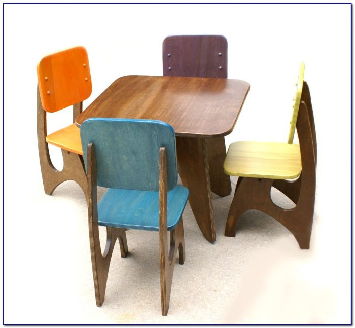 Child's School Desk And Chair Set