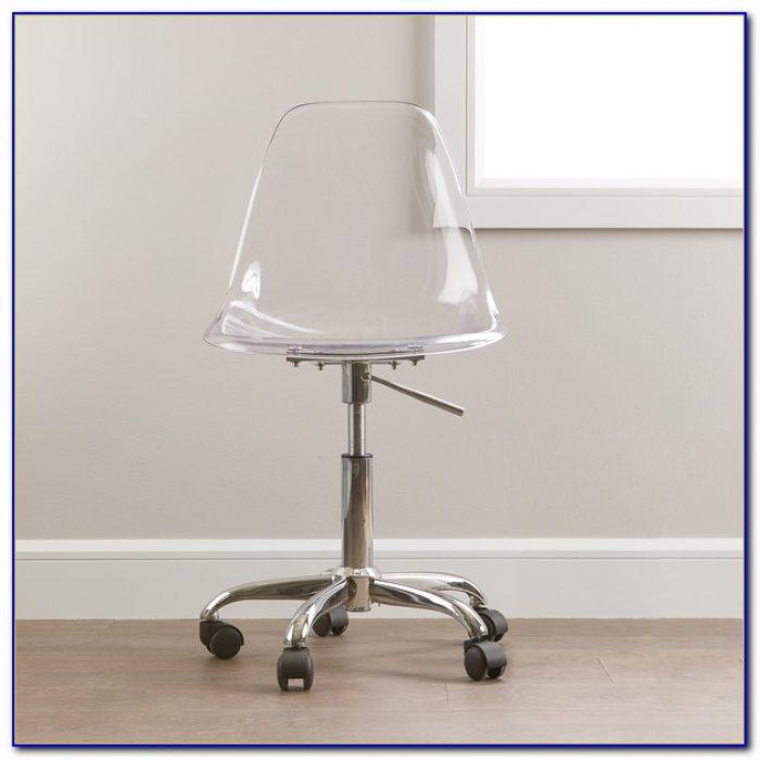 Clear Acrylic Swivel Office Chair