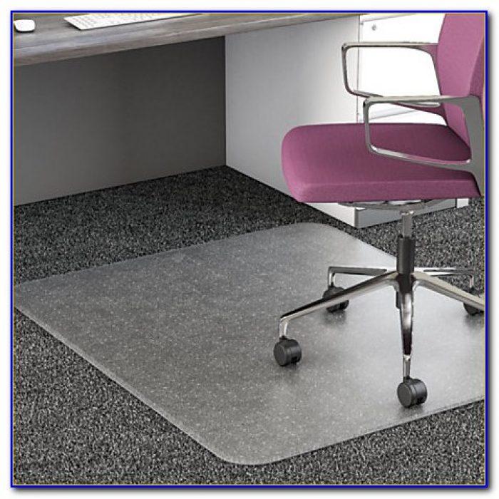 Floor Mat For Office Chair On Wood Floor
