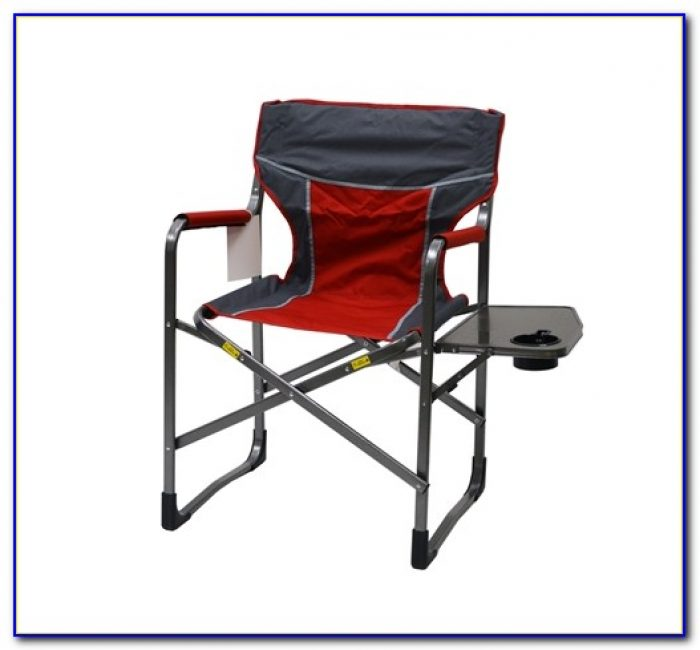 Folding Chair With Side Table And Cooler