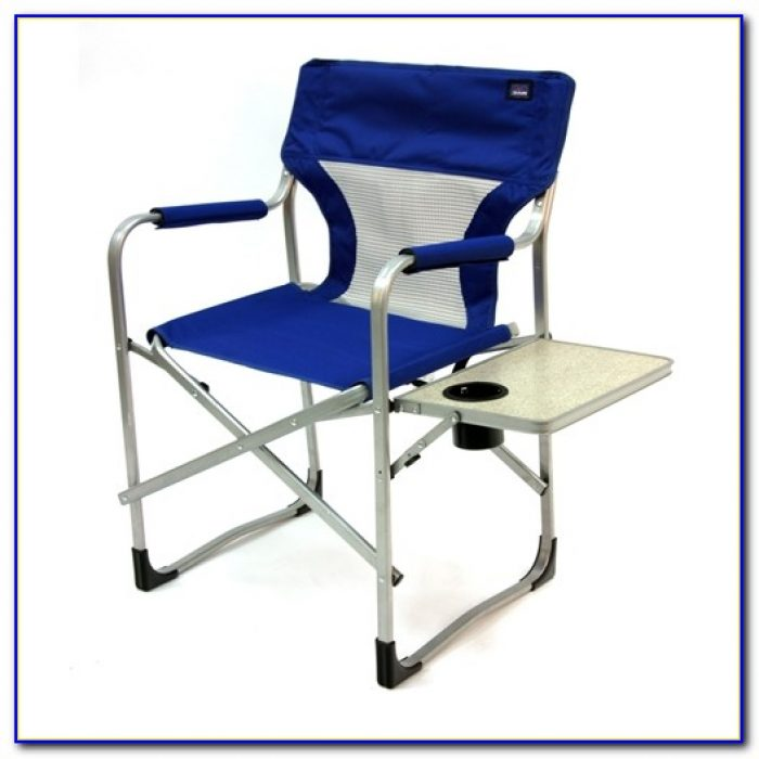 Folding Lawn Chair With Side Table