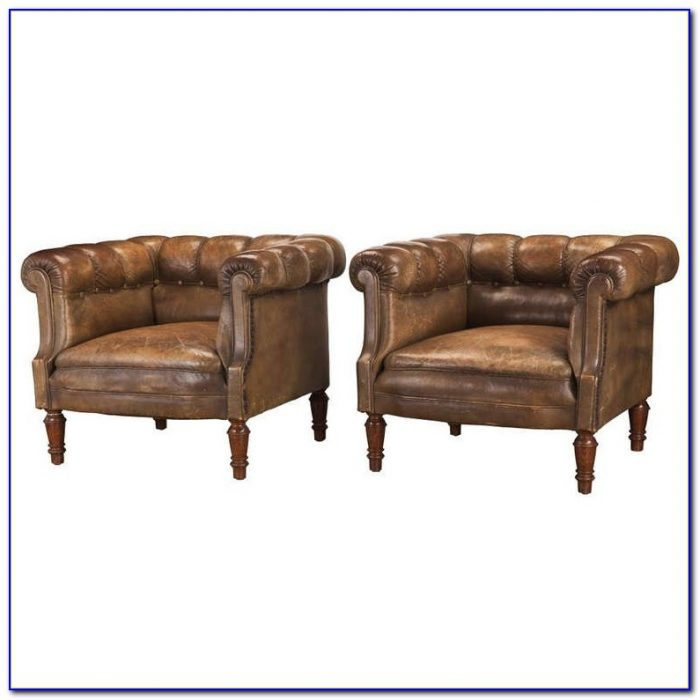 Gabriel Tufted Leather Club Chair