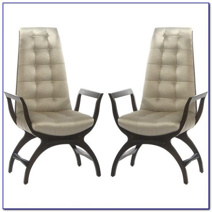 High Back Tufted Club Chair