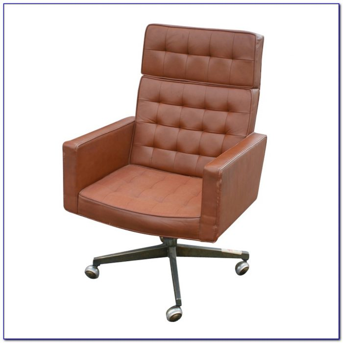 High Back Tufted Leather Office Chair