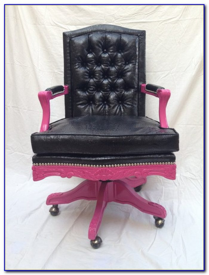 Hot Pink Swivel Desk Chair